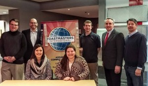 Thank you to Bob Holzwarth and his fellow Toastmasters from Harris Assured Communicators for hosting this morning's Area 32 speech contests. AMAZING Area Contests, VERY memorable for ALL. Who gets up to go to work on a Saturday morning to host a contest on public speaking? These GREAT people, left to right... Joe Sefranek - 2nd place in International Contest KC Bush - 1st time contestant Sam Otto - Sergeant-at-Arms Bob Holzwarth - Club President, Area 32 Director, Contestmaster and funny guy Ed Mantilla - Club VP Education and all around good guy Ashley Larracuente - Club VP Membership, today's timer Brittany Sass - Club Treasurer, today's Hospitality Chair WELL DONE ALL and THANK YOU!
