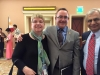 Kate Olsen DTM, PDG with Incoming President Jim Kokocki and Sam Mehta DTM, PDG