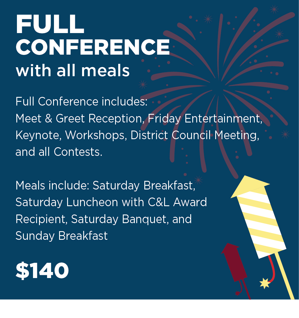 Full Conference with all meals including Banquet